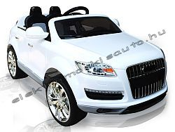 elektromos kisauto Audi Q7 Excl. fehér oldal-elol.jpg
