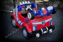 elektromos kisauto Transformers kamion oldal-hatul.jpg