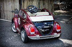 elektromos kisauto VW Bogár 12V bordó metál hátul.jpg